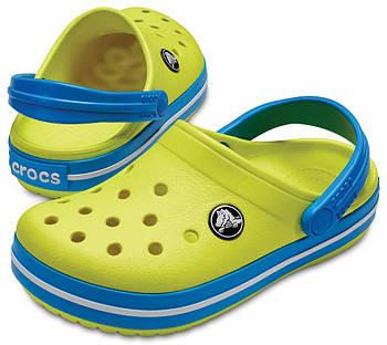 Детские кроксы Crocs Crocband Kids салатовые С11/ 17,8 – 18,2 см
