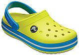 Детские кроксы Crocs Crocband Kids салатовые С12/ 18,3 – 18,7 см, фото 4