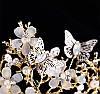 Тиара с бабочками, диадема МОЛЛИ, красивая диадема для волос, фото 4