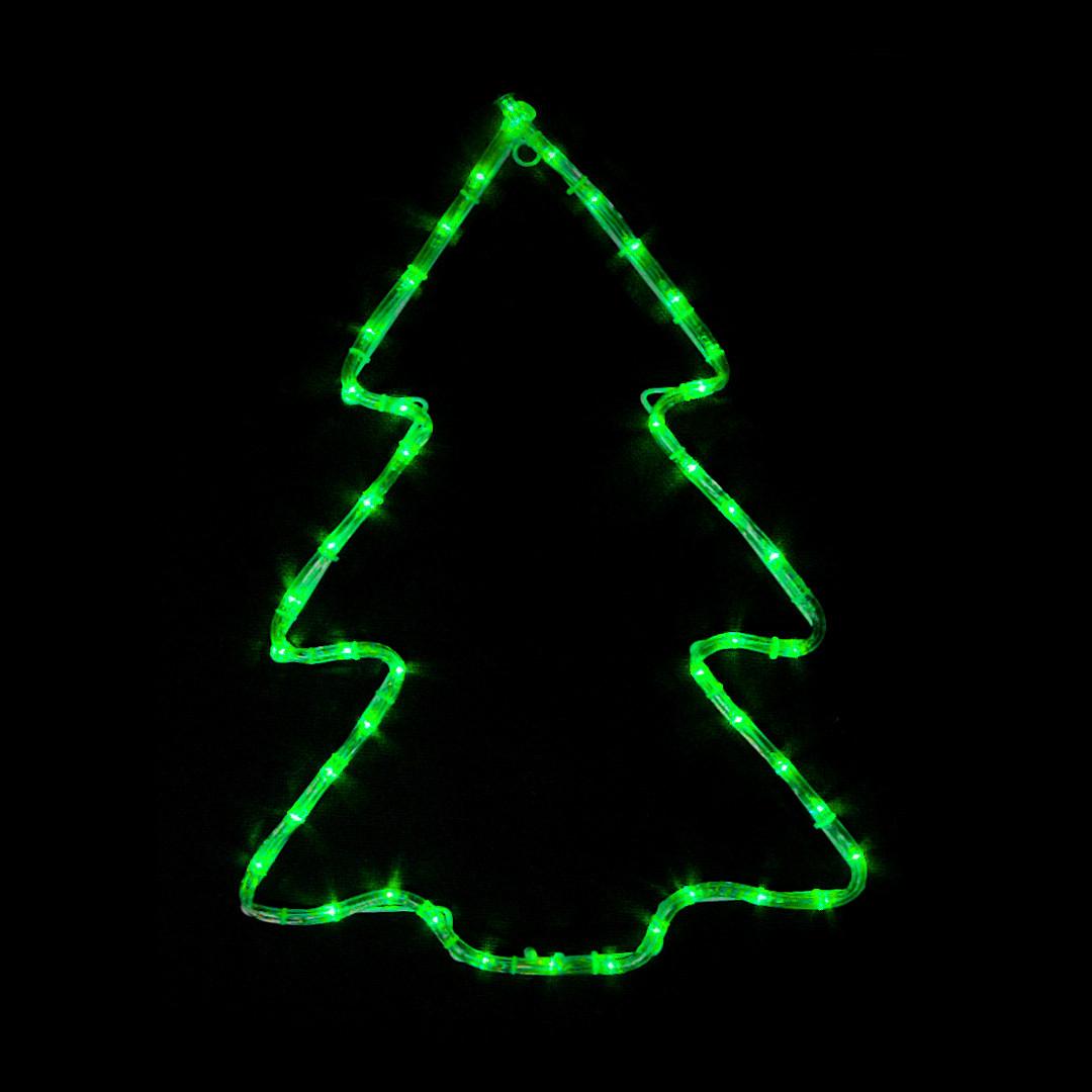 LED украшение DELUX MOTIF Christmas tree 60*45см 7 flash зелен. IP44 EN