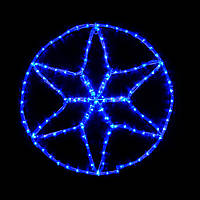 LED украшение DELUX MOTIF Star 6 кон. 60*60см 13 flash синий IP44 EN