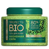 Гель для волос ПРЕЛЕСТЬ BIO 250ml с экстрактом ЗЕЛЁНОГО ЧАЯ