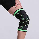 Трикотажный бандаж коленного сустава с дополнительной фиксацией, фото 5