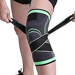 Трикотажный бандаж коленного сустава с дополнительной фиксацией, фото 10