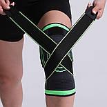 Трикотажный бандаж коленного сустава с дополнительной фиксацией, фото 7
