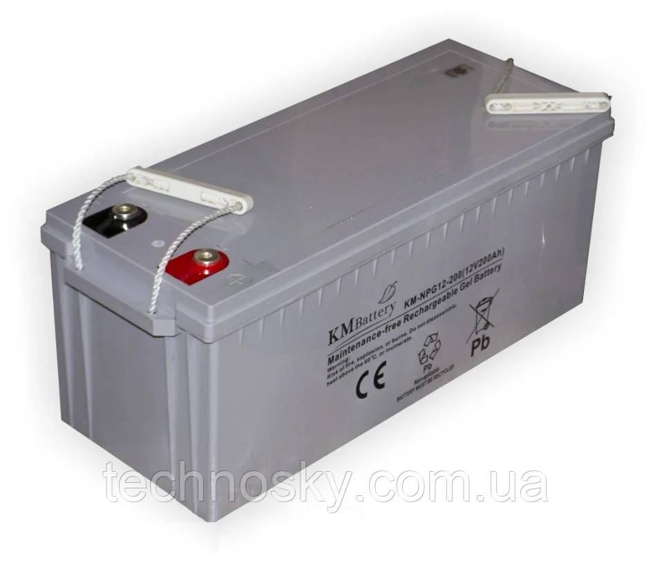 Гелевая аккумуляторна батарея KM Battery KM-NPG12-200