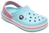 Кроксы детские Crocs Crocband Kids голубые J3/ 22,0 – 22,5 см, фото 5