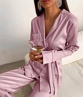 Женская шелковая пижама Турецкий трикотаж