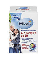 Das Gesunde Plus Mivolis A-Z Komplett ab 50 вітамінний комплекс для людей за 50 , 100 таб