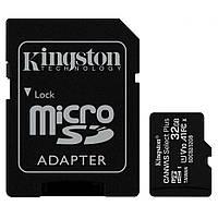 Карта памяти microSDHC 32GB Class 10 UHS-I Kingston CANVAS Select Plus (SDCS2/32GB) R100MBs с адаптером новая