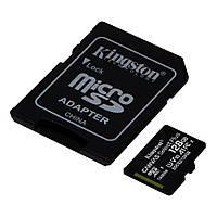 Карта памяти microSDXC 128GB Class 10 UHS-I Kingston CANVAS Select Plus (SDCS2/128GB) R100MBs с адаптером