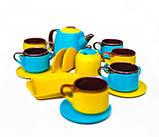 Чайний набір жовто-блакитний на 6 осіб, фото 3