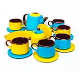 Чайний набір жовто-блакитний на 6 осіб, фото 2
