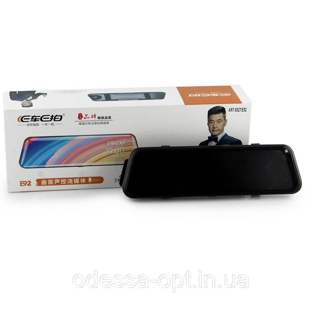 DVR E92 зеркало с двумя камерами 1080P full screen 10