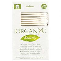 Гігієнічні палички з органічної бавовни 200 шт Organyc