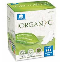Прокладки для помірних виділень з крильцями в індивідуальній упаковці органічні 10 шт Organyc
