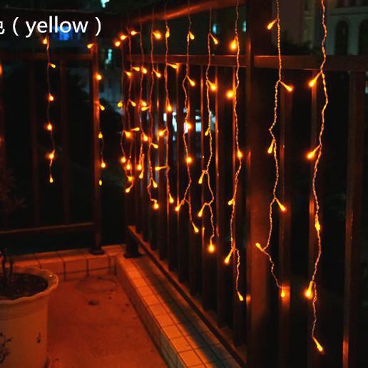Уличная Гирлянда Бахрома 4x0,6 метра 120 LED, 20 нитей, 220В, IP55. Наружная Гирлянда, Золото, Сos-1795-65
