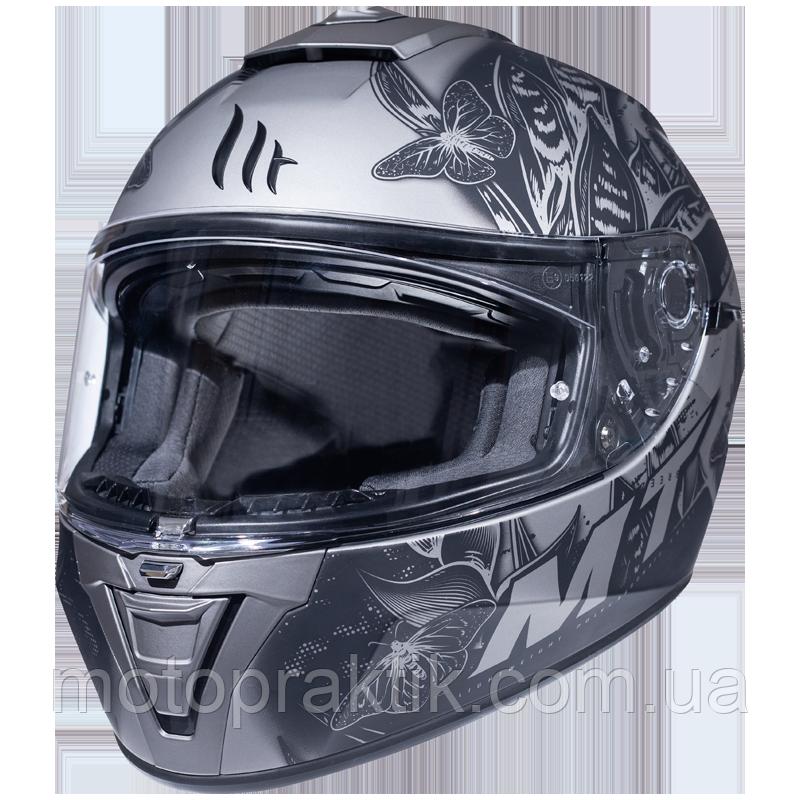 MT Blade 2 SV Breeze E2 Matt Grey, XS Мотошолом інтеграл з окулярами