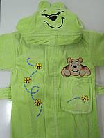 Детский махровый халат салатовый хлопок, фото 1
