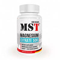 MST Sport Nutrition, Микроэлемент Magnesium Citrate 500, 100 капсул