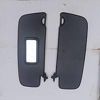 Козырьки противосолнечные Ваз 1118 Калина  2190 Гранта с зеркалом черный (кт-2 шт) ЗАВОД