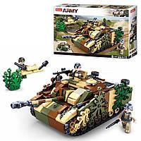 Конструктор SLUBAN танк, фигурка, 524дет M38-B0858
