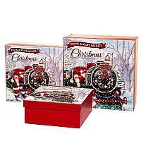 """Новогодние подарочные коробки """"Новогодний экспресс"""" набор 3 шт. (20х20х9,5см) можно поштучно"""