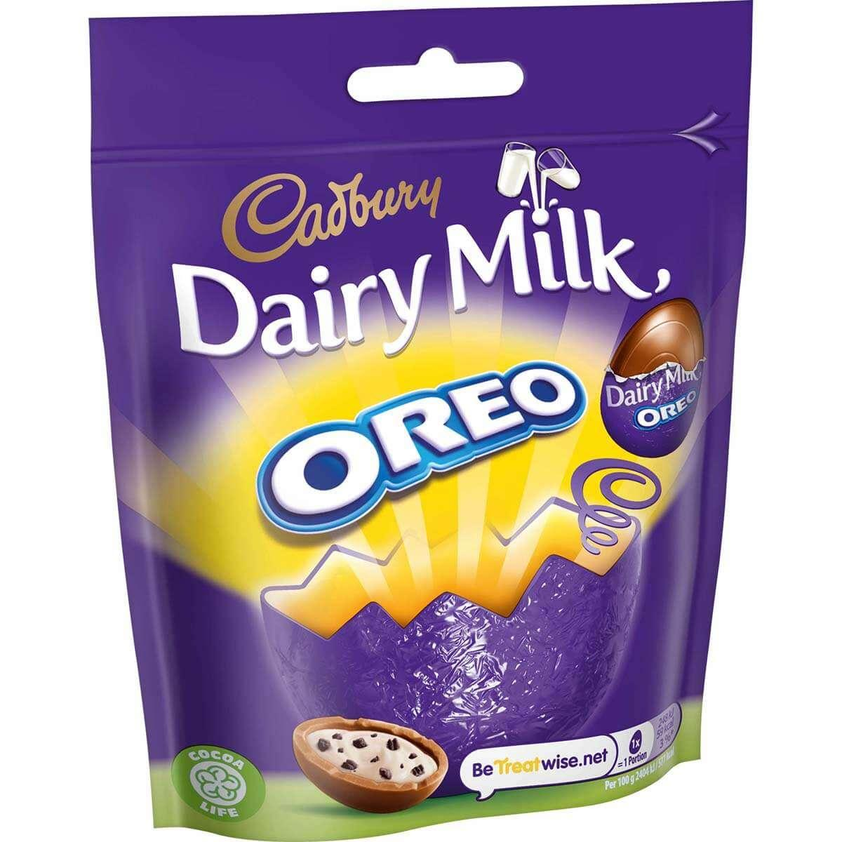 Cadbury Dairy Milk Miniature Oreo Chocolate Egg Bag 72 g