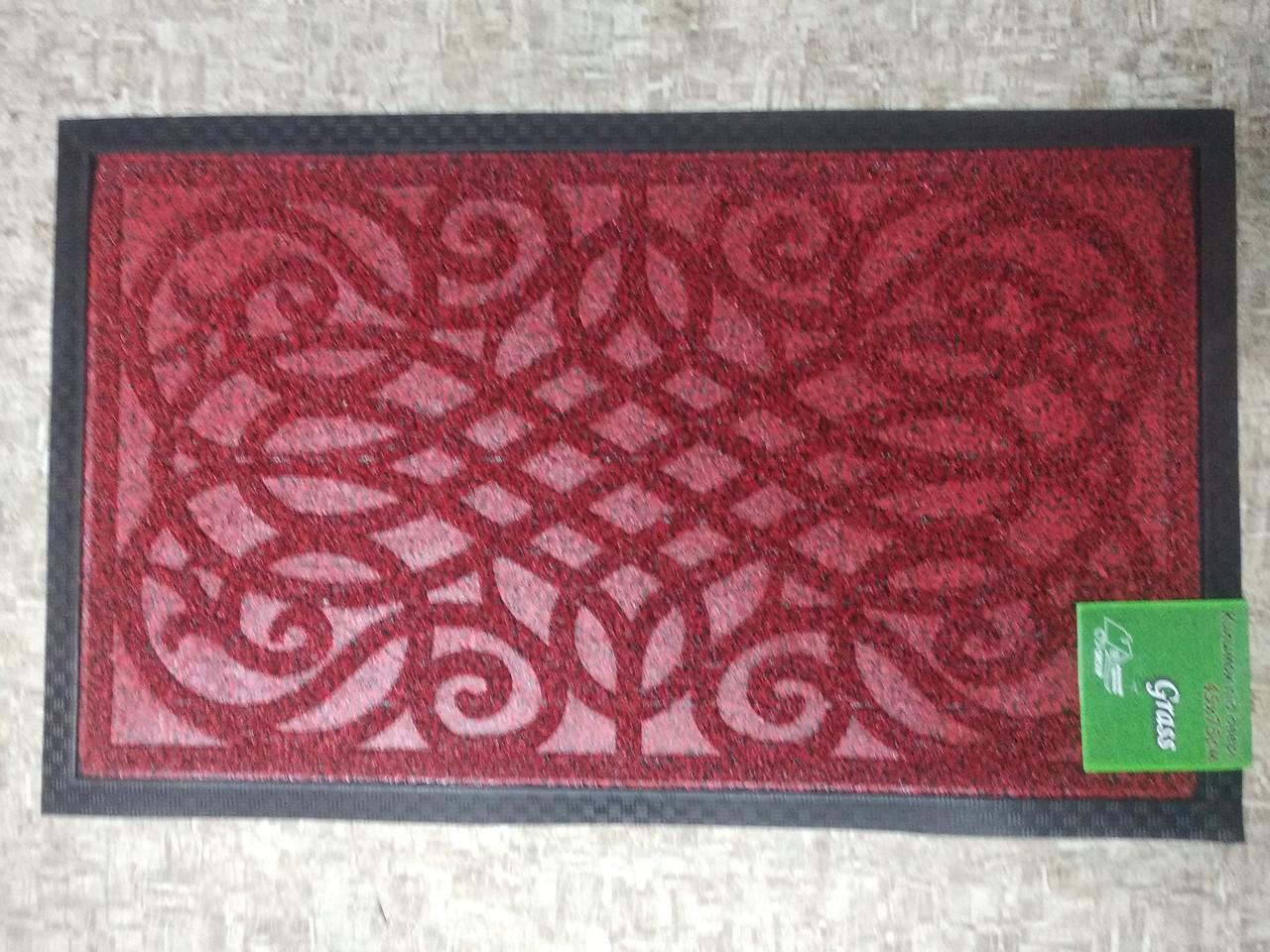 Коврик под двери Dariana Grass 45*75см красный