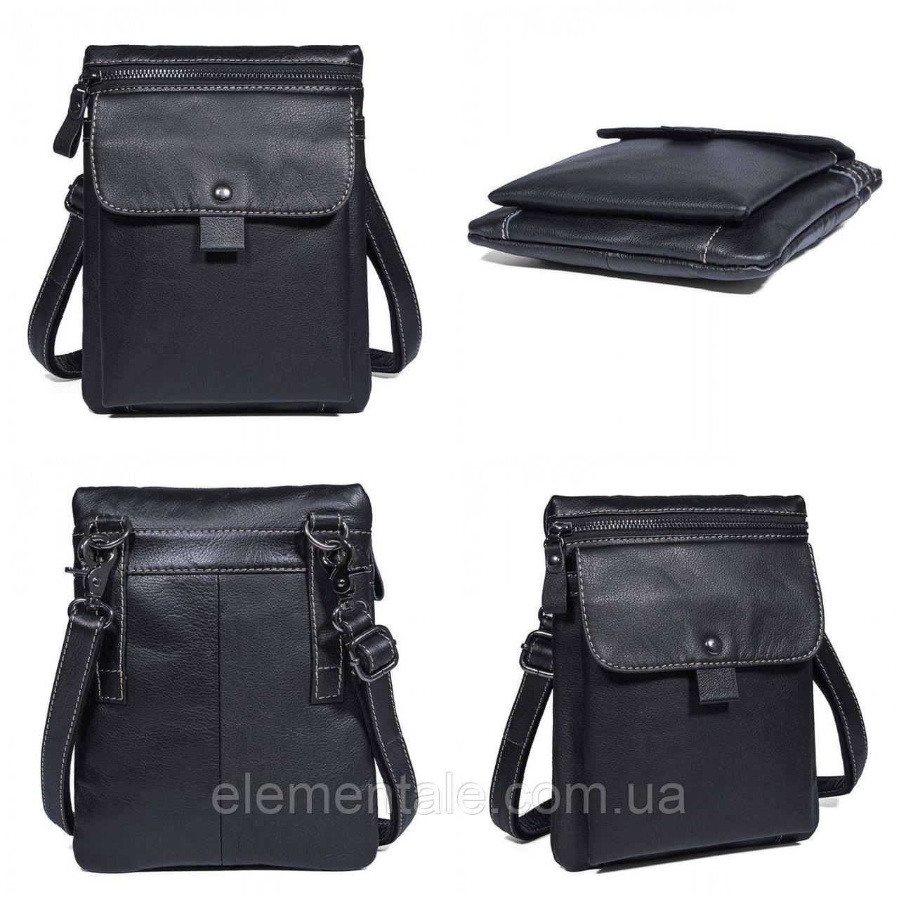Мужская сумка через плечо GMD Черный
