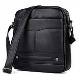 Мужская сумка через плечо GMD Черный, фото 8