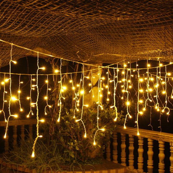 Гірлянда Бахрома 4x0,6 метра 96 LED, 19 ниток, 220В, IP44, (вулиця і будинок) Сos-1792-65