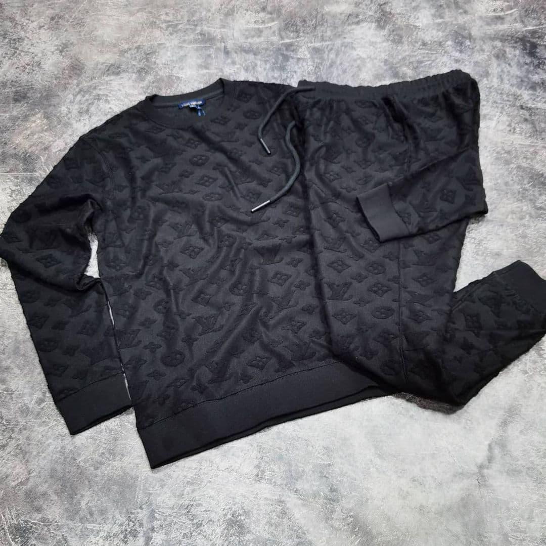 Мужской спортивный костюм Louis Vuitton CK1584 черный