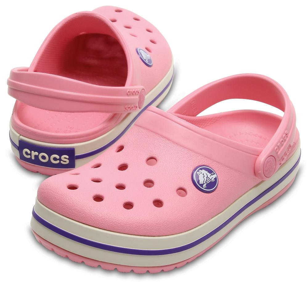 Кроксы детские Crocs Crocband Kids розовые J3/ 22,0 – 22,5 см