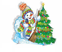 Декорація ☆ Сніговик із ялинкою ☆ Новий Рік