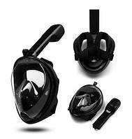 Маска S/M ЧЕРНАЯ для подводного плавания, маска для снорклинга Easybreath Tribord