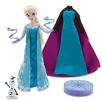 "Поющая Эльза Disney Frozen Elsa Deluxe Singing Doll Set Olaf - 11"" Sings & Glows"
