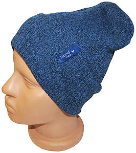 Стильная молодежная шапка унисекс Nord neo, синяя