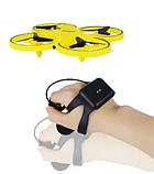 Квадрокоптер-дрон с управлением жестами от руки браслетом Dowellin Gravity желтый, фото 4