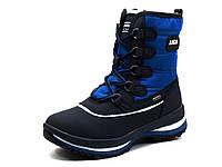 """Ботинки зимние высокие """"ANDA"""", темно-синие/ синие, фото 1"""