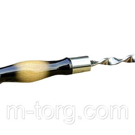 Подарочный набор на 7 шампуров 60 см с деревянной лаковой ручкой, фото 2