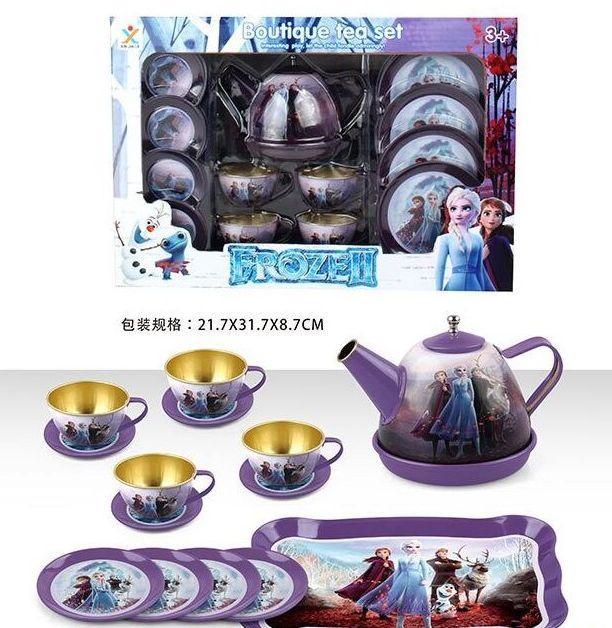 """Набор посудки металлический """"Холодное сердце"""" Frozen, 15 предметов,в коробке 966 A-15/17/18"""