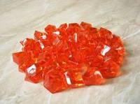 Искусственные льдинки. Цвет оранжевый. Упаковка 10 шт