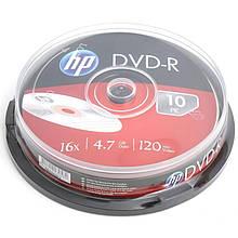 DVD+R HP (69315 /DME00026-3) 4.7GB 16x, шпиндель, 10 шт