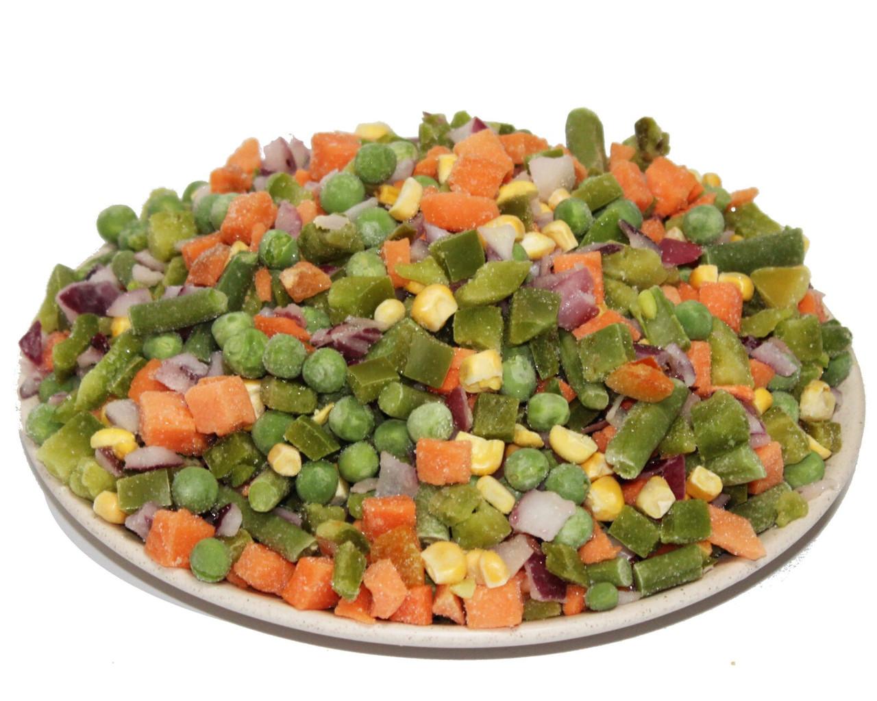 Андалузская смесь овощная (лук репчатый, перец,кукуруза, спаржа,горох,морковка)