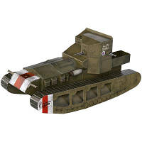 Сборная модель Умная бумага Танк Whippet серии Военная техника (252-01)