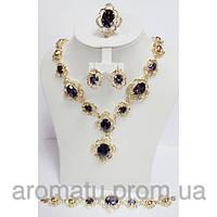 Набор бижутерии с фиолетовыми камнями 8902