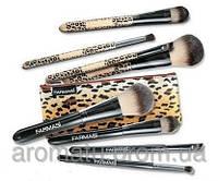 """Набор кисточек для макияжа, в косметичке """"Леопард"""""""