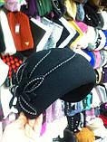 фетровый женский мини берет украшенный шнурком, фото 5