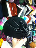 фетровый женский мини берет украшенный шнурком, фото 6